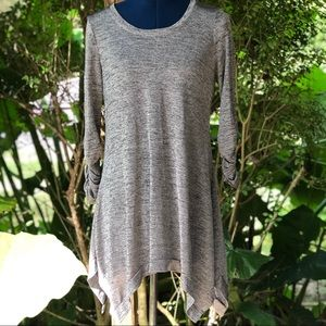 Grace Elements | Grey Metallic Tunic